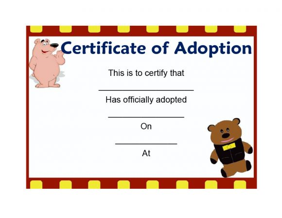 adoption certificate 23