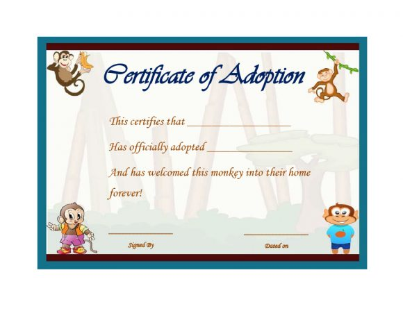 adoption certificate 25
