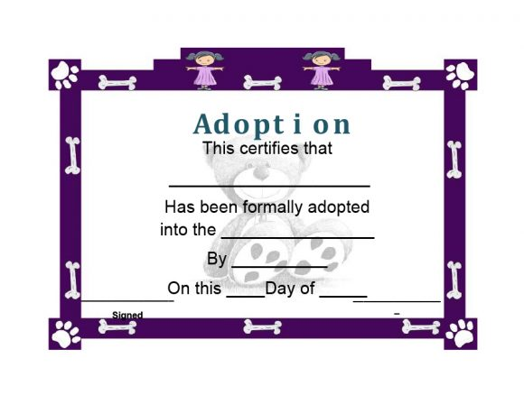 adoption certificate 28