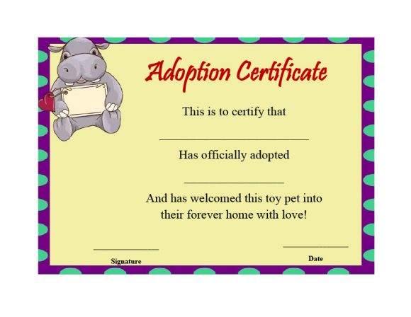 adoption certificate 29