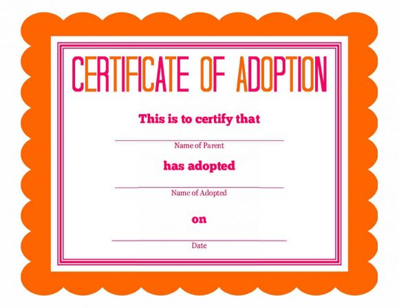 adoption certificate 31