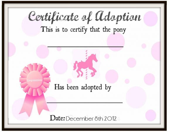 adoption certificate 32