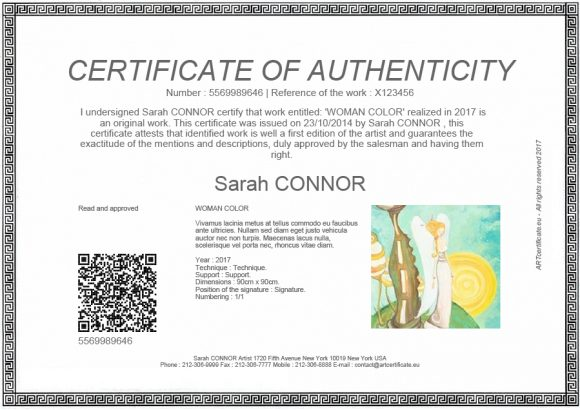 certificate of authenticity 09