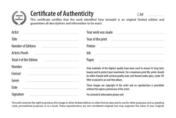 37 certificate of authenticity templates art car autograph photo certificate of authenticity 11 yadclub Choice Image