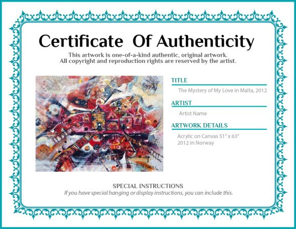 certificate of authenticity 12