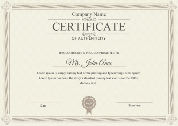 certificate of authenticity 14
