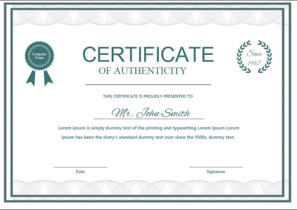 certificate of authenticity 15