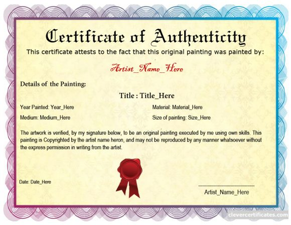 37 certificate of authenticity templates art car autograph photo certificate of authenticity 23 yelopaper Images