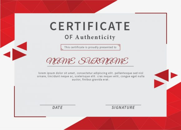 certificate of authenticity 25