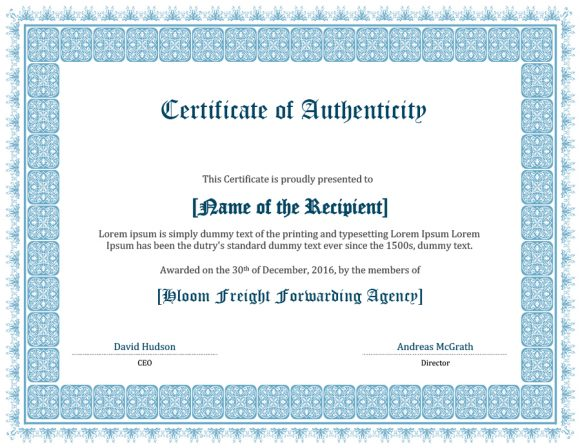 certificate of authenticity 27