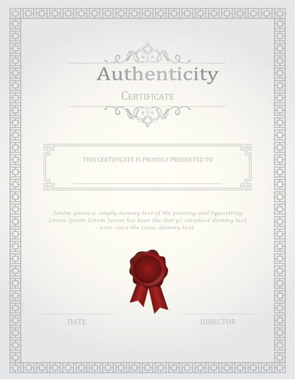 certificate of authenticity 30