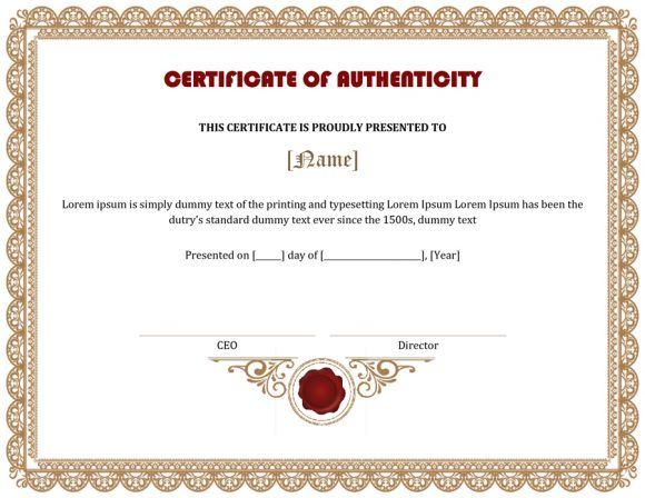 certificate of authenticity 31