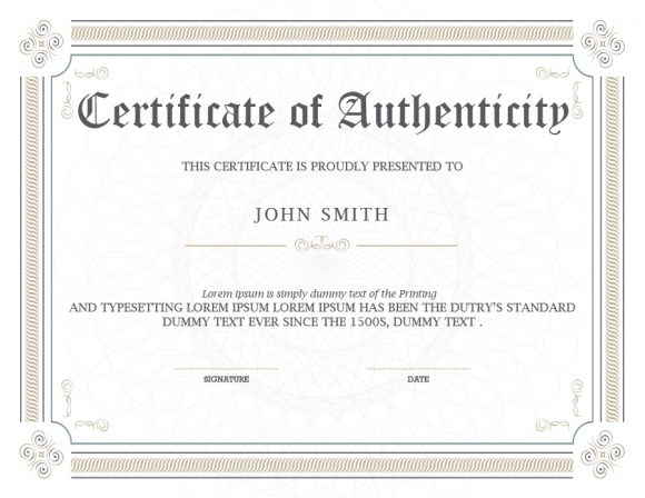 certificate of authenticity 32