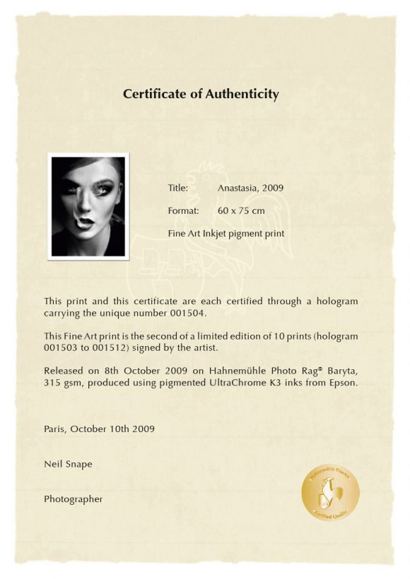 certificate of authenticity 37