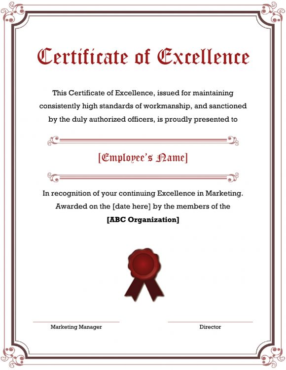 certificate of excellence 04
