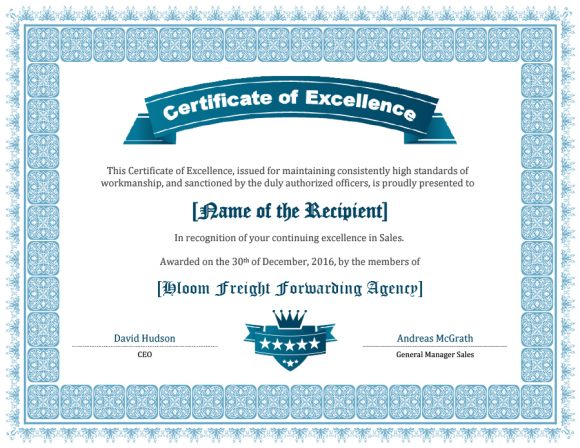 certificate of excellence 06