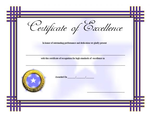 certificate of excellence 08