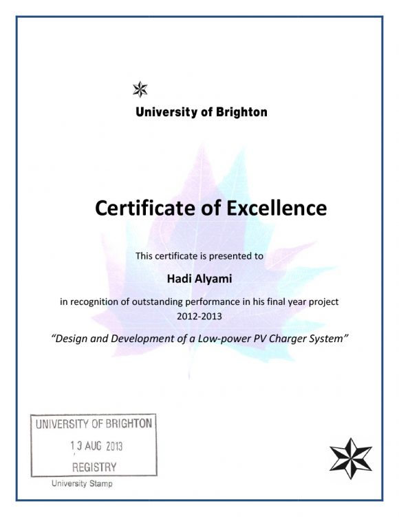 certificate of excellence 11