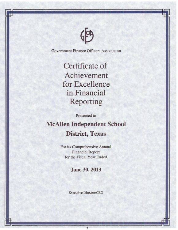 certificate of excellence 12