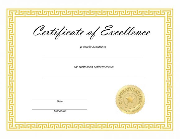 certificate of excellence 14