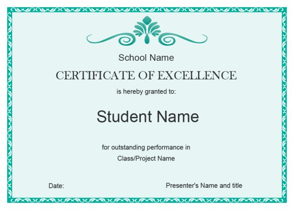 certificate of excellence 16