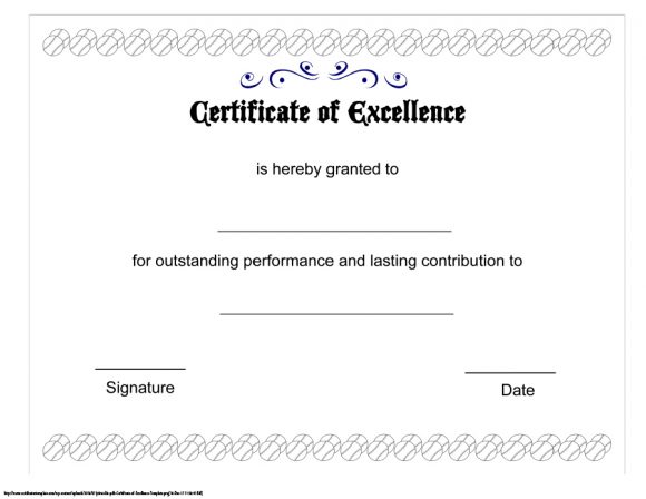 certificate of excellence 18