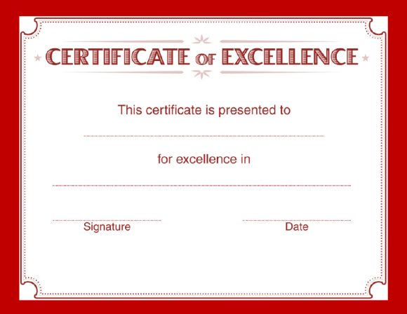 certificate of excellence 24