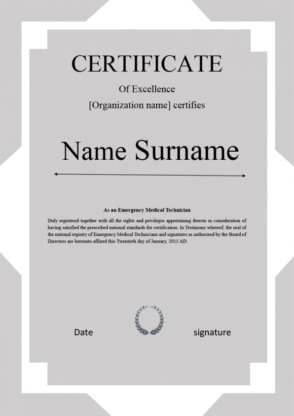 certificate of excellence 25