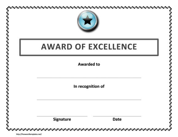 certificate of excellence 27