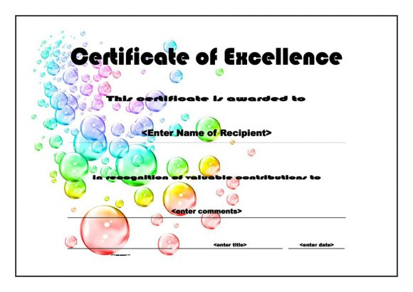 certificate of excellence 31