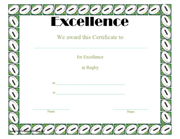 certificate of excellence 36