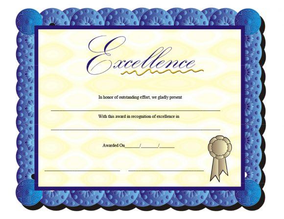 certificate of excellence 40