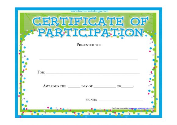 certificate of participation 05
