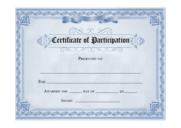 certificate of participation 10