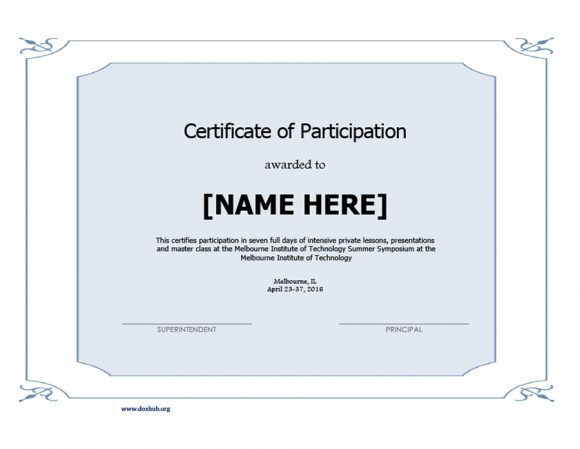 certificate of participation 13