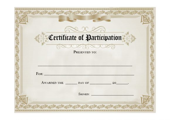 certificate of participation 14