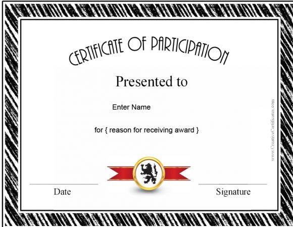 certificate of participation 15