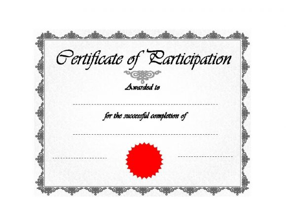 certificate of participation 23