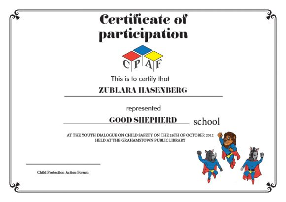 certificate of participation 27