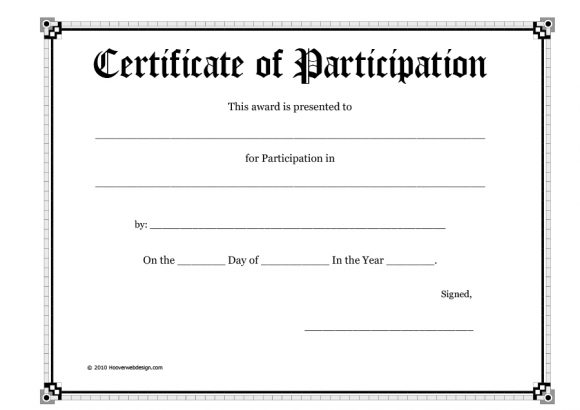 certificate of participation 28