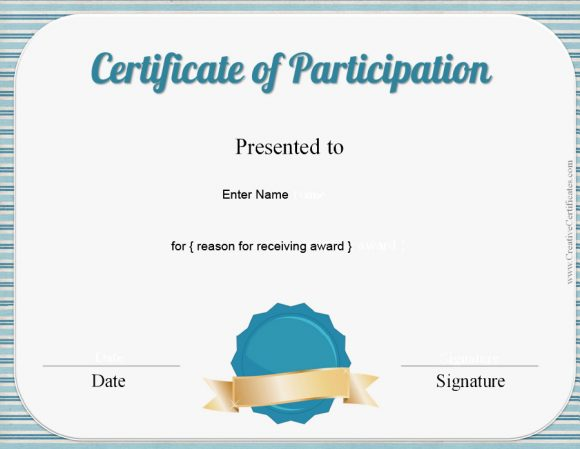 certificate of participation 33