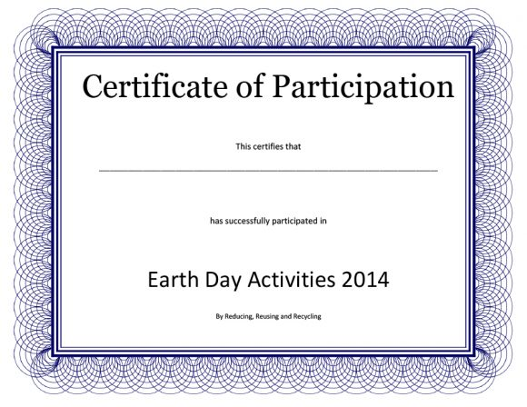 certificate of participation 37