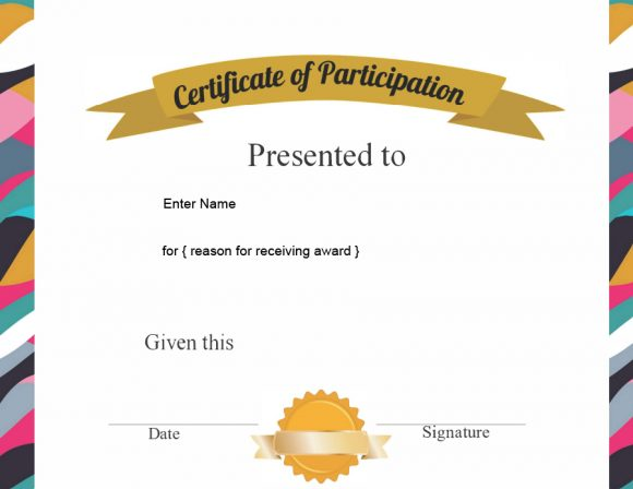 certificate of participation 38