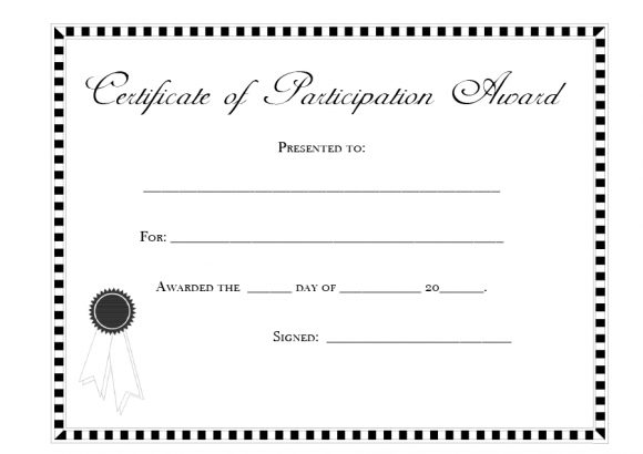 certificate of participation 39