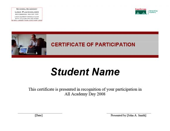 certificate of participation 40