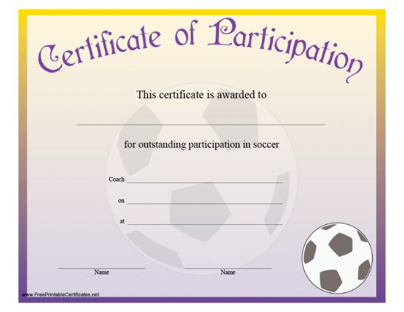 certificate of participation 42