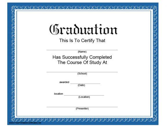 graduation certificate 12