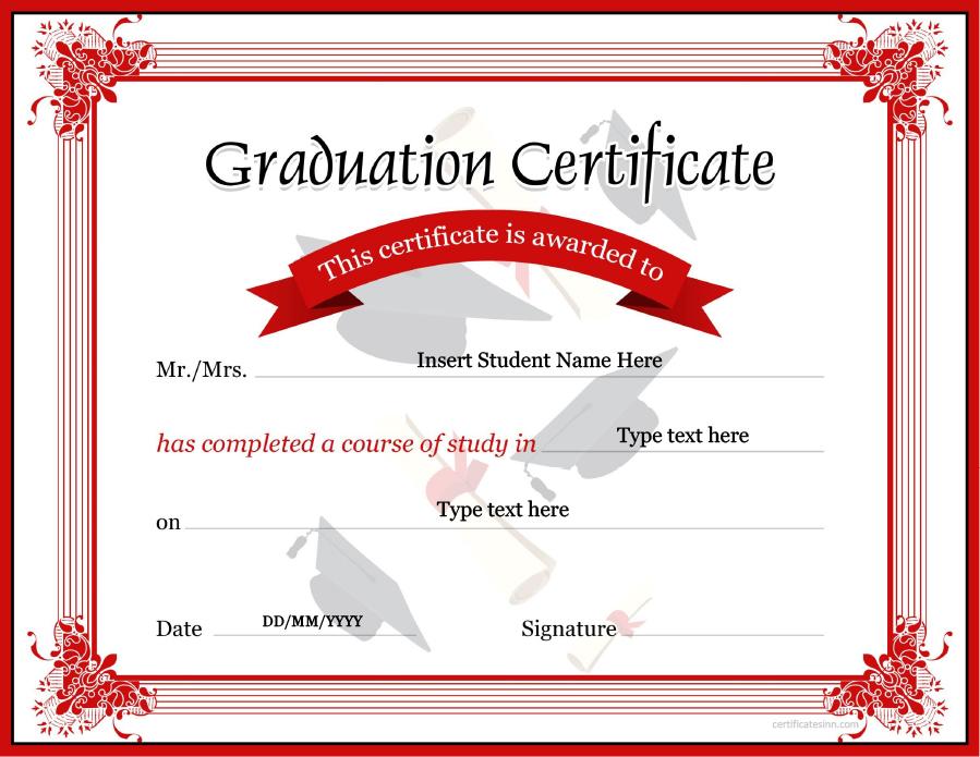graduation certificate 13