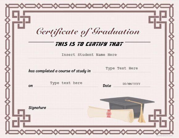 graduation certificate 15
