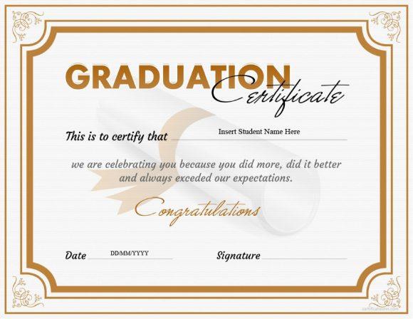 graduation certificate 16